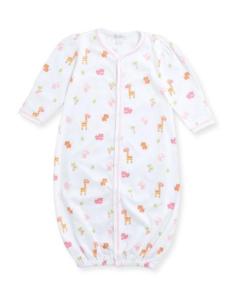 Safari Stroll Convertible Pima Sleep Gown, Size Newborn-Small