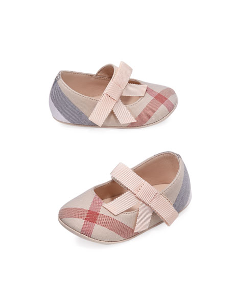 Girls' Stark Check Mary Jane, Pink, Infant