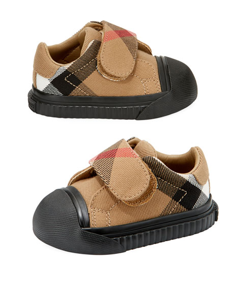 Beech Check Sneaker, Beige/Black, Infant/Toddler