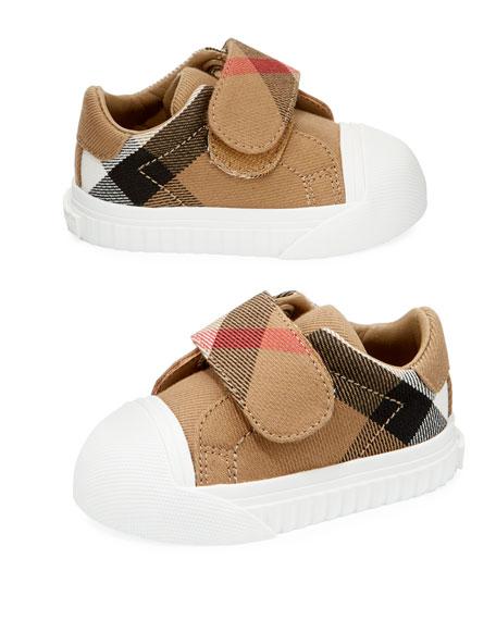 Burberry Beech Check Sneaker, Beige/White, Infant/Toddler