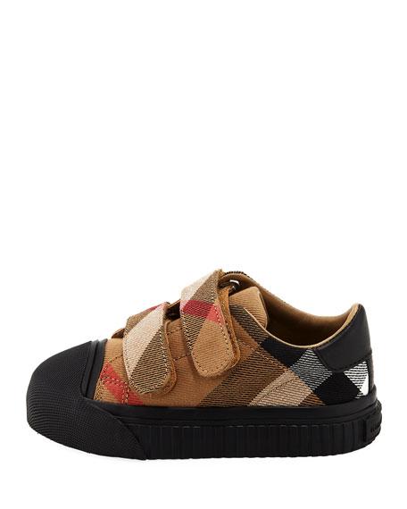 Belside Check Sneaker, Beige/Black, Youth