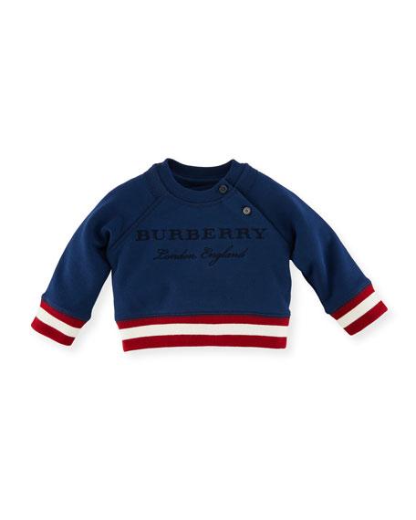Burberry Stanley Logo Sweatshirt, Blue, Size 6M-3Y