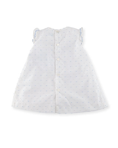Swiss Dot Dress w/ Ruffle Bloomers, Size Newborn-9M