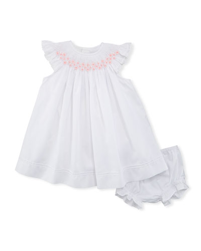 Smocked Bishop Dress w/ Bloomers, Size Newborn-9M