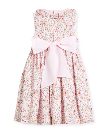 Floral Sleeveless Smock Dress, Size 4-6X
