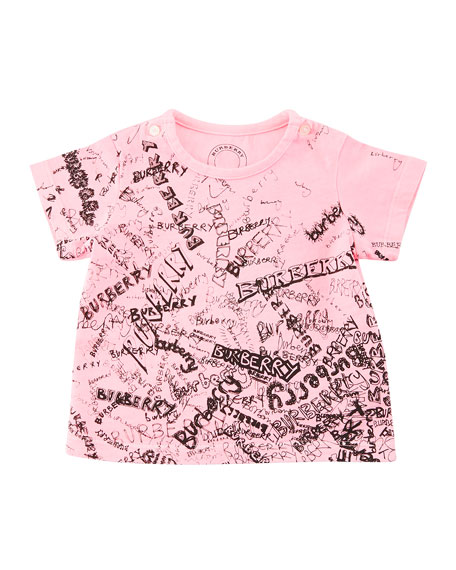 Rea Scribbles T-Shirt, Bright Pink, Size 6M-3