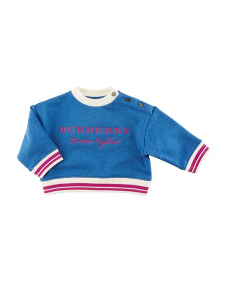 Burberry Emillia Logo Sweatshirt, Blue, Size 6M-3