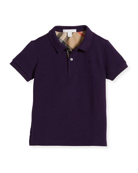 Burberry Boys' Cotton Polo, Purple, Size 4-14