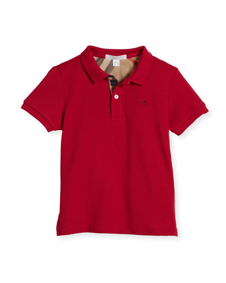 Burberry Boys' Cotton Polo, Pink, Size 4-14