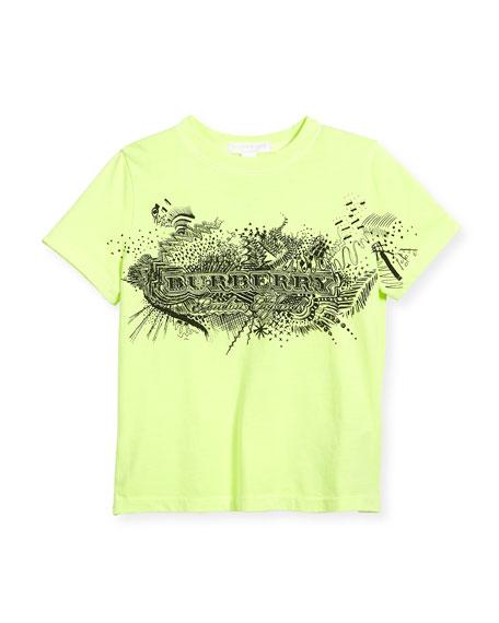 Rydon Logo Graphic T-Shirt, Bright Yellow, Size 4-14