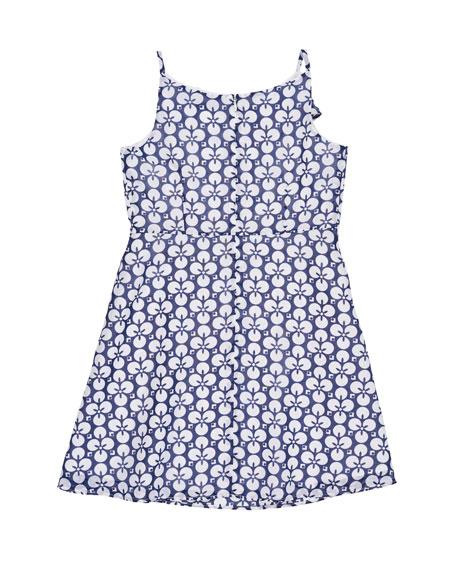 Floral-Print Chiffon Dress, Size 7-14