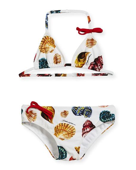 eb45394ec7 Dolce   Gabbana Shells-Print Two-Piece Swim Set