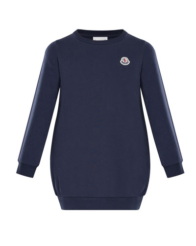 Terry Long-Sleeve Sweater Dress, Size 8-14