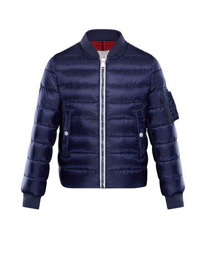 Aiden Quilted Bomber Jacket, Size 4-6