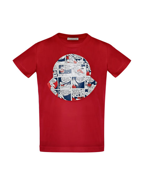 Maglia Comic-Print T-Shirt, Red, Size 8-14