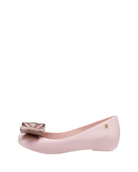 Ultragirl Glittered-Bow Ballet Flat, Youth