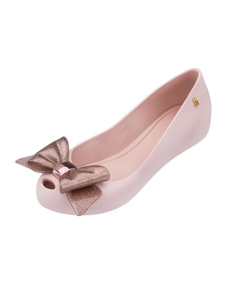Ultragirl Glittered-Bow Ballet Flat, Youth
