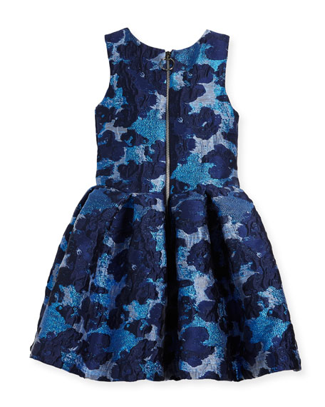 Adele Metallic Brocade Floral Dress, Size 4-6X
