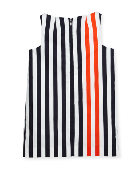 Nautical Stripe Angular Shift Dress, Size 4-7