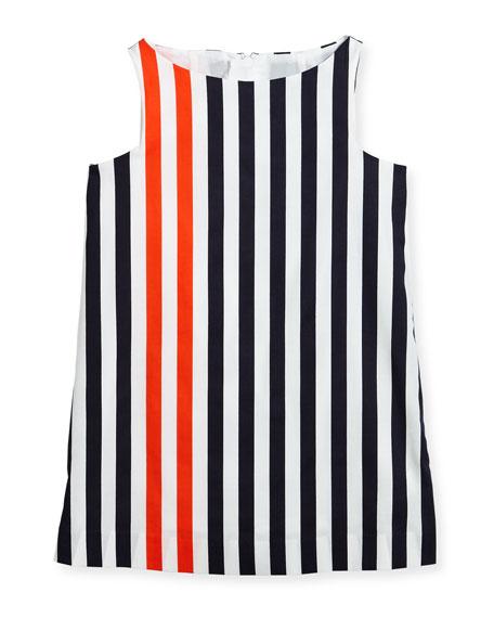 Nautical Stripe Angular Shift Dress, Size 4-7