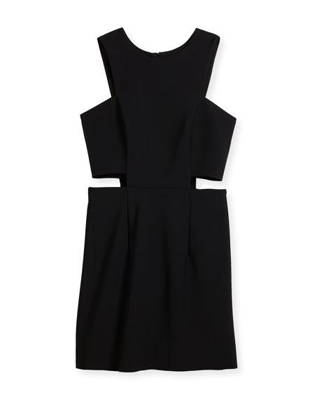 Tech Stretch Cutout Mini Dress, Size 8-16