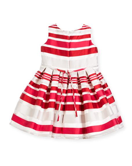 Satin Stripe Dress, Size 7-14