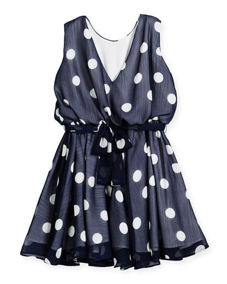 Sleeveless Polka-Dot Dress, Size 4-6