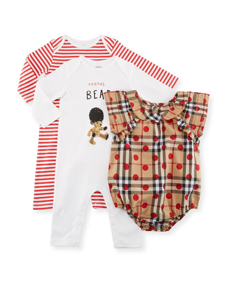 Girls' Thomas Bear Layette Set, Size 3-9 Months