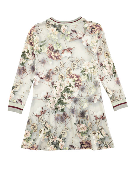Conny X-Ray Bloom Printed Dress, Size 2T-10
