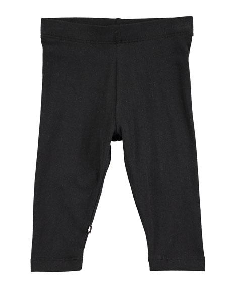 Nette Solid Cotton-Stretch Leggings, Size 6-24 Months