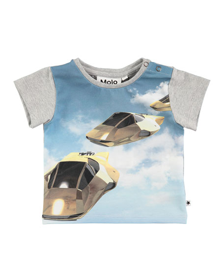 Eddie Hover Cars Printed T-Shirt, Size 6-24 Months