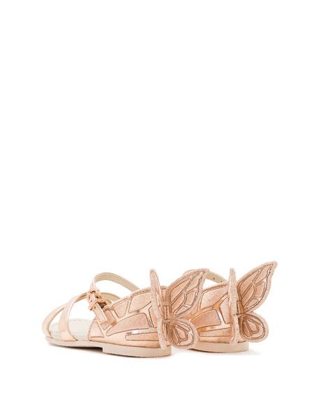 Chiara Metallic Butterfly Sandal, Size 5T-3Y