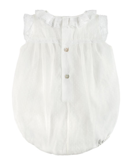 Sleeveless Ruffle Romper, White, Size 3-18 Months