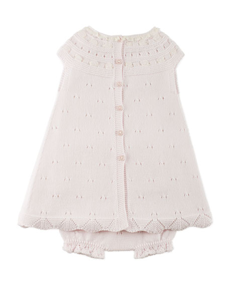 Sleeveless Knit Dress w/ Bloomers, Pink, Size 3M-2Y