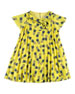 Pineapple Pleated Dress, Yellow, Size 4-10