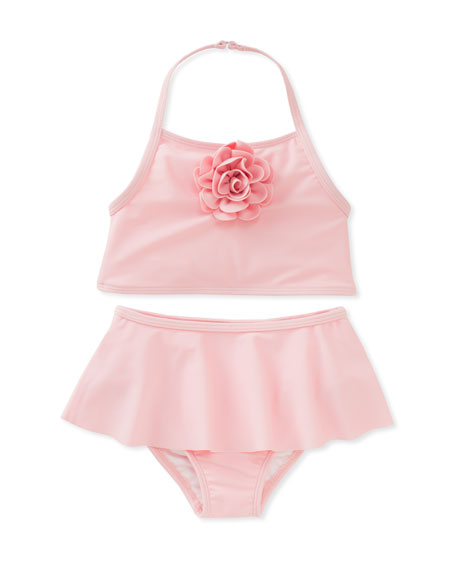 kate spade new york skirted two-piece halter swimsuit,