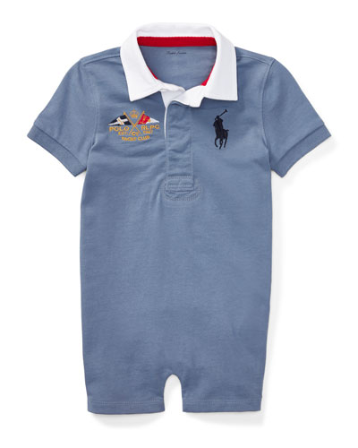 Rugby Jersey Polo Shortall, Blue, Size 3-18 Months