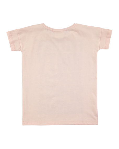 Rilla Short-Sleeve Graphic T-Shirt, Pink, Size 4-14