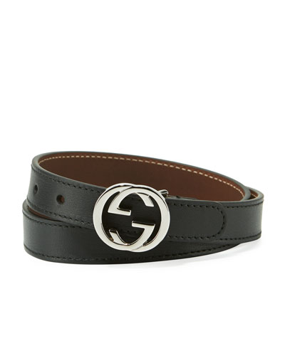 Kids' GG Leather Belt
