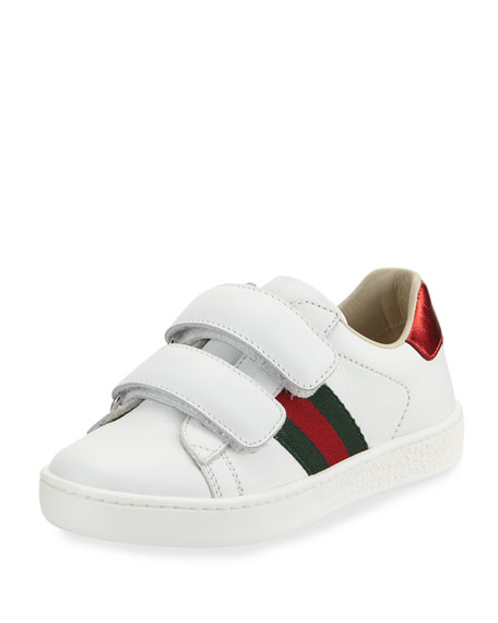ff156a4b44d Gucci New Ace Web-Trim Leather Sneaker