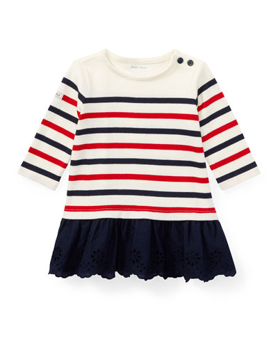Jersey Stripe Dress w/ Bloomers, Size 9-24 Months