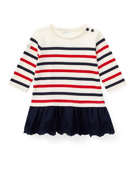 Jersey Stripe Dress w/ Bloomers, Size 9-24 Months
