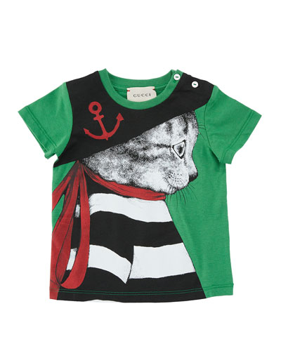 Cat Pirate Short-Sleeve T-Shirt, Size 6-36 Months