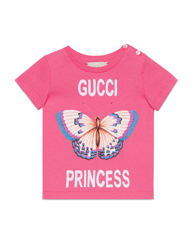 Gucci Princess Butterfly T-Shirt, Size 6-36 Months