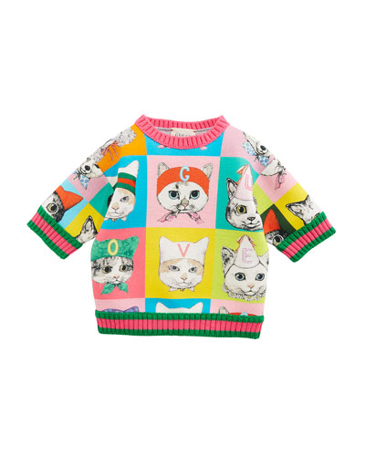 Pets-Print Sweatshirt w/ Web Knit Trim, Size 12-36 Months