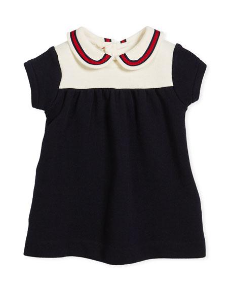 Peter Pan Web Collar Dress, Size 3-36 Months