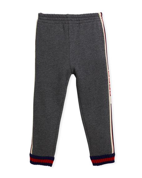 Gucci Logo Jacquard Side Jogger Pants w/ Web