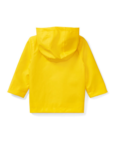 Hooded Raincoat, Yellow, Size 9-24 Months