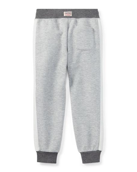 Double-Knit Tech Jogger Pants, Gray, Size 5-7
