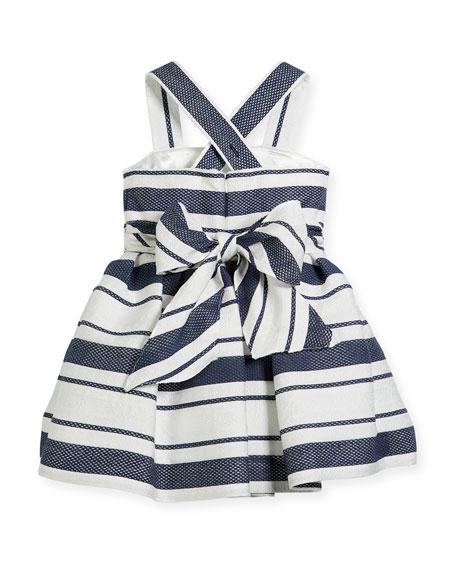 Sophisticated Stripe Cross-Back Dress, Size 2-6